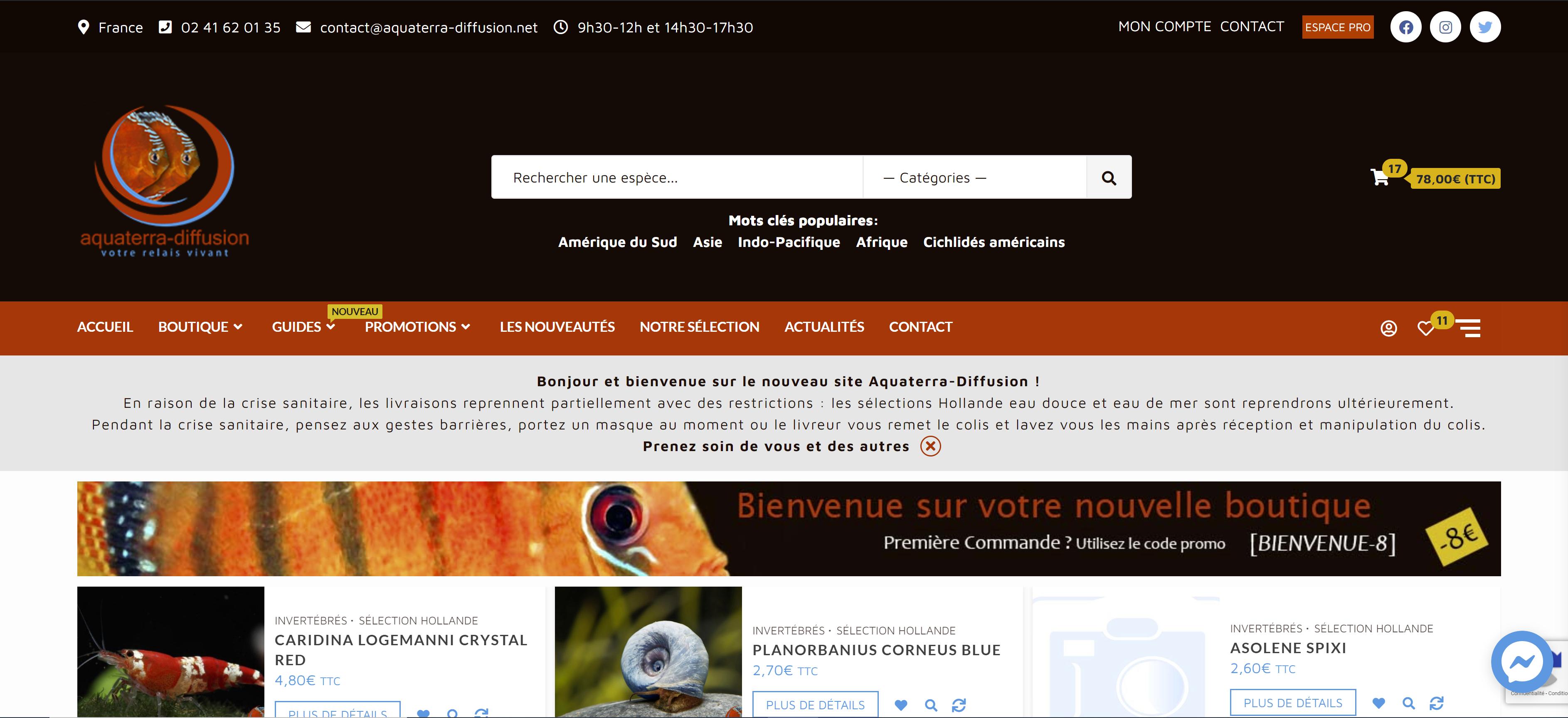 Ouverture du site Aquaterra-Diffusion !